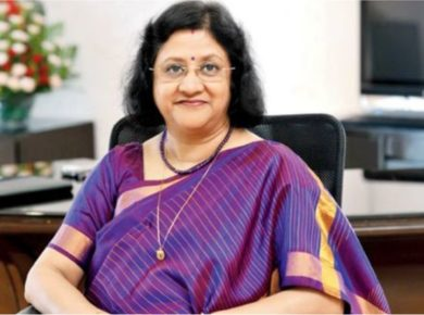 Former SBI Chief Arundhati Bhattacharya -Sheatwork