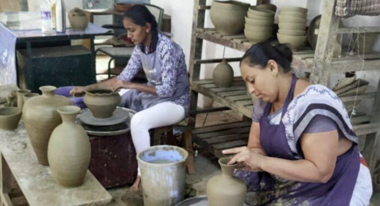 Women in Karnataka choose entrepreneurship in terracotta products for a creative future