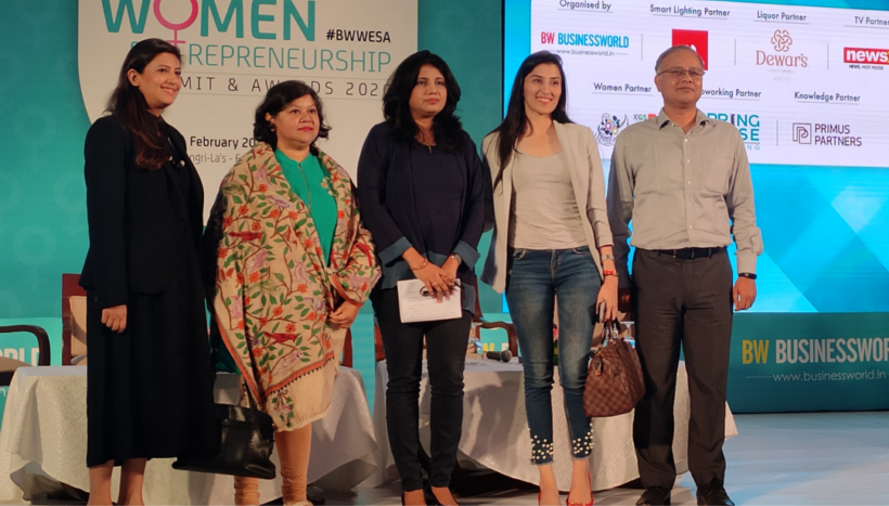 "Ruby Sinha, Founder - SheatWork.com, shares her views on #womenentrepreneurship at the ""Business World Women Entrepreneurship Summit & Awards 2020""."